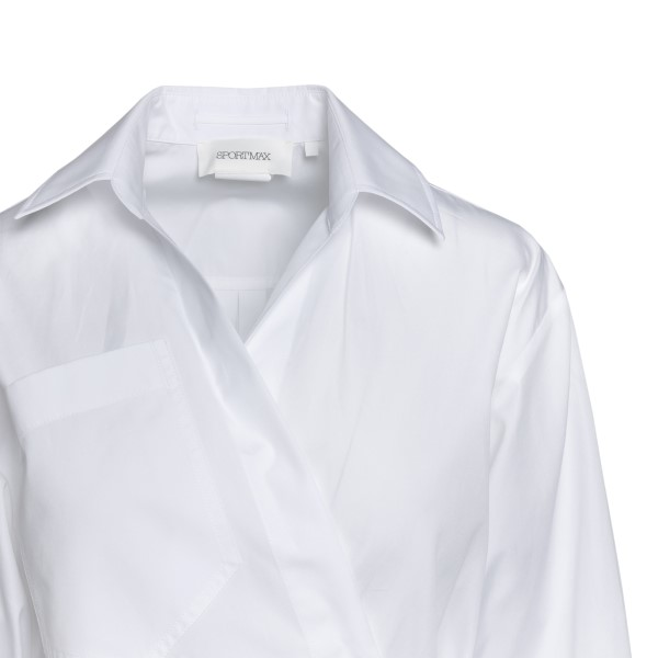 Long white shirt with cross                                                                                                                            SPORTMAX