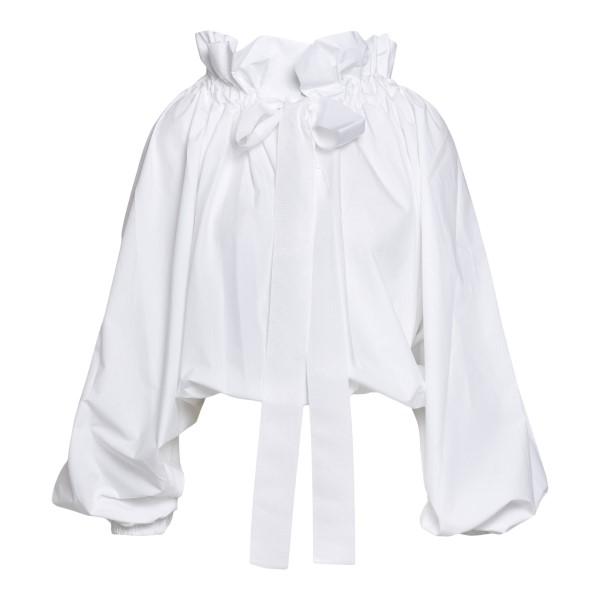 Top bianco con maniche a palloncino                                                                                                                   Patou TO0170017001W fronte