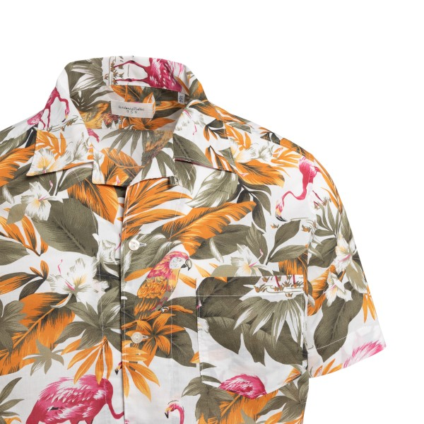 Multicolored shirt with tropical pattern                                                                                                               TINTORIA MATTEI