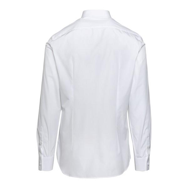 Camicia classica bianca con logo                                                                                                                       PRADA                                              PRADA