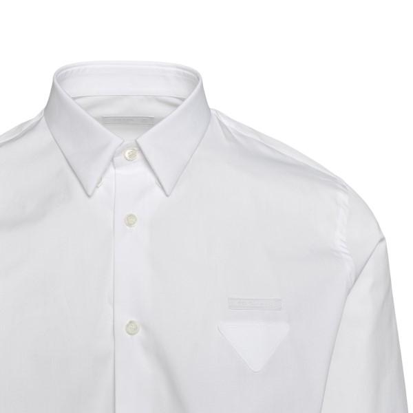 Classic white shirt with logo                                                                                                                          PRADA