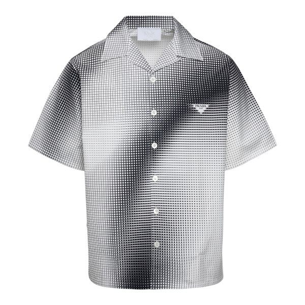 Black and white shirt with checked pattern                                                                                                            Prada UCS396 front