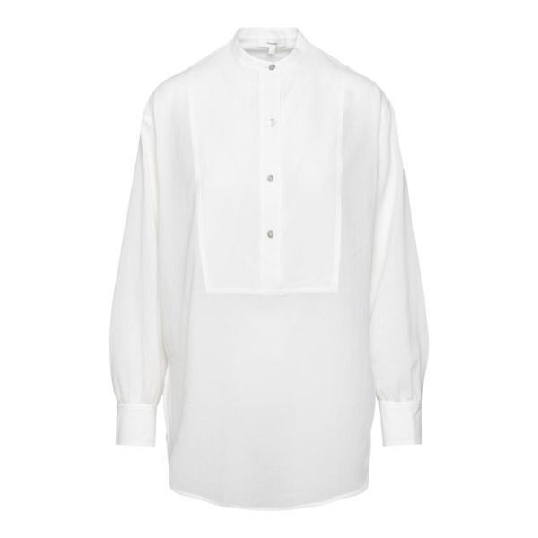 White shirt with mandarin collar                                                                                                                      Vince V740312492 back