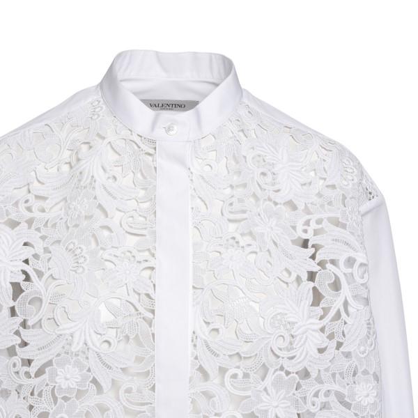 Camicia bianca con ricami a fiori                                                                                                                      VALENTINO                                          VALENTINO