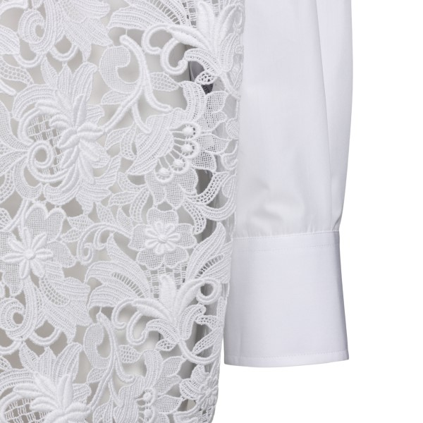 White shirt with flower embroidery                                                                                                                     VALENTINO