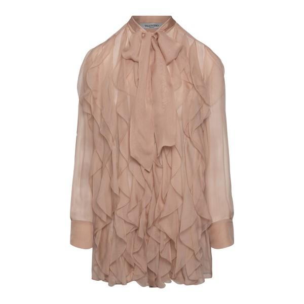 Camicia rosa antico con ruches                                                                                                                        Valentino VB0AB2F0 retro
