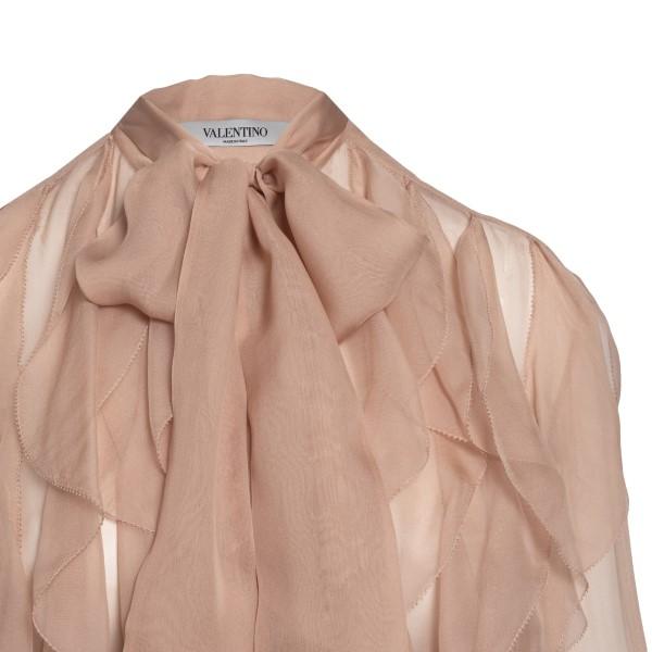 Camicia rosa antico con ruches                                                                                                                         VALENTINO                                          VALENTINO