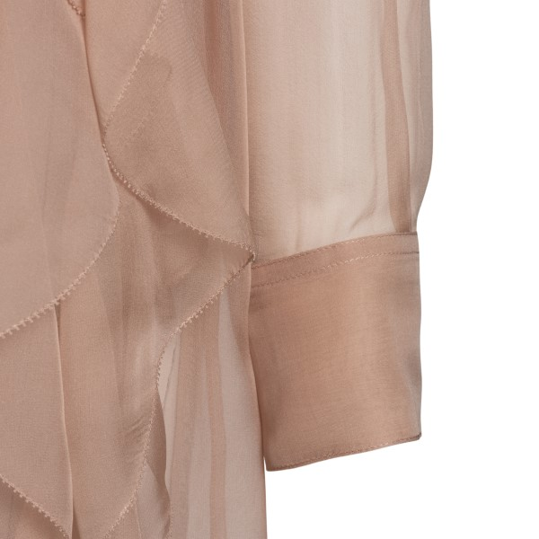 Antique pink shirt with ruffles                                                                                                                        VALENTINO