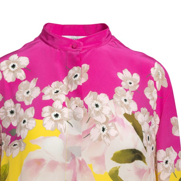Long multicolored blouse with flowers                                                                                                                  VALENTINO
