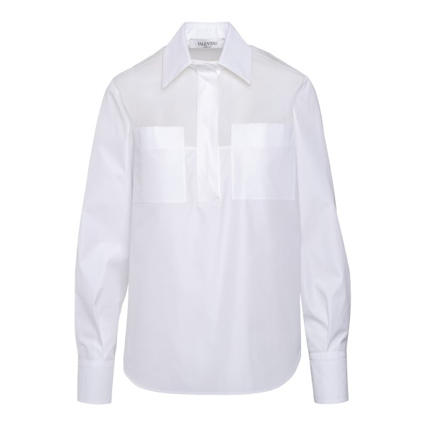 Semi transparent white shirt                                                                                                                          Valentino VB3AB200 back