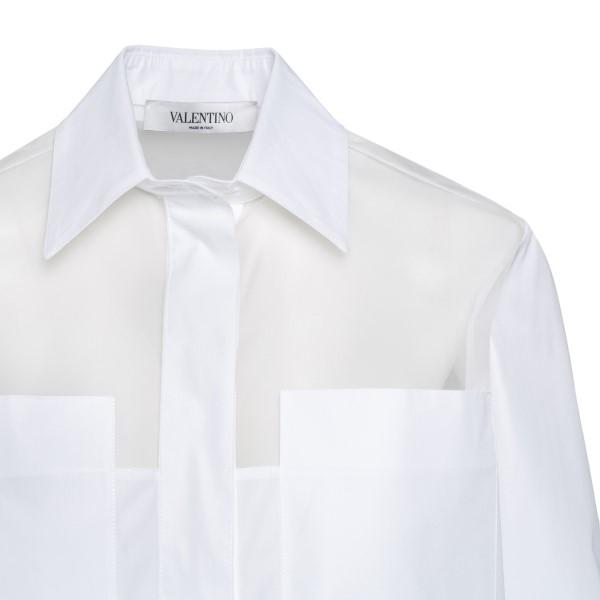 Camicia bianca semi trasparente                                                                                                                        VALENTINO                                          VALENTINO