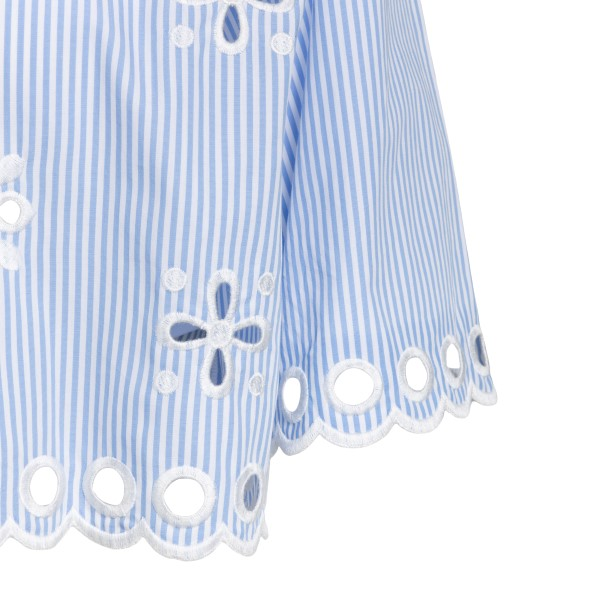 Light blue crop shirt with embroidery                                                                                                                  RED VALENTINO