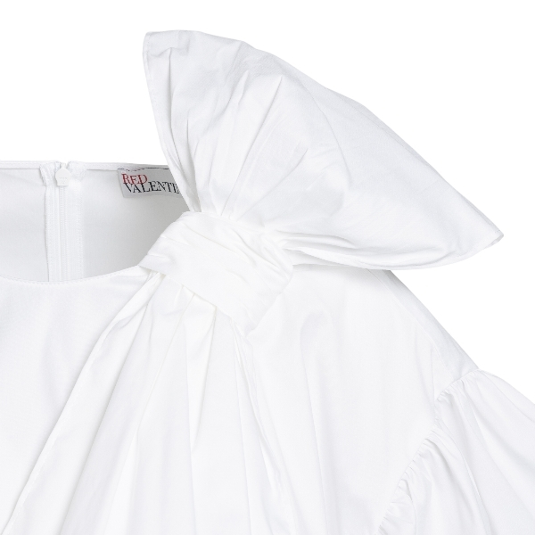 White blouse with oversized bow                                                                                                                        RED VALENTINO