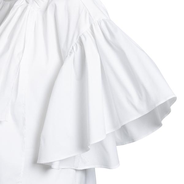 Blusa bianca con fiocco oversize                                                                                                                       RED VALENTINO                                      RED VALENTINO