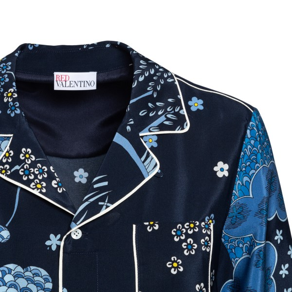 Blue shirt with floral print                                                                                                                           RED VALENTINO