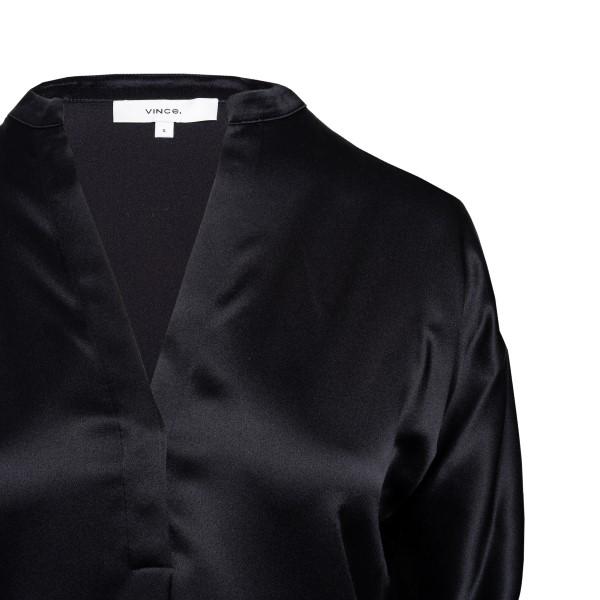 Blusa nera satinata                                                                                                                                    VINCE                                              VINCE