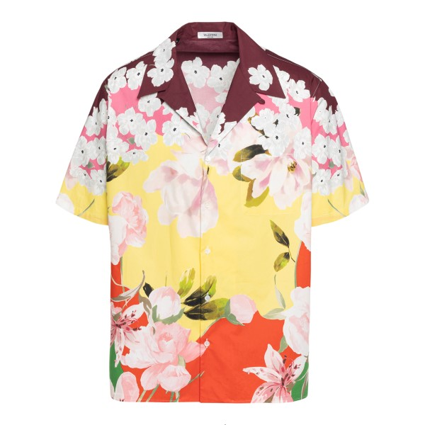 Multicolored shirt with floral pattern                                                                                                                Valentino VV0AAA90_ back