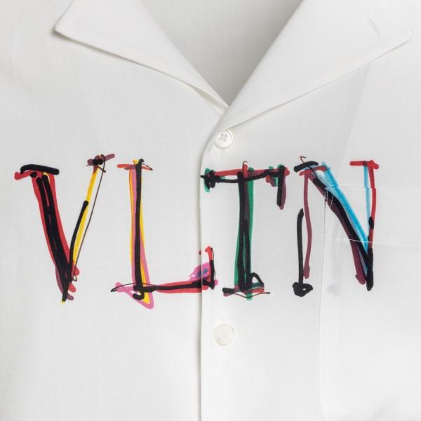 Camicia bianca con stampa logo                                                                                                                         VALENTINO                                          VALENTINO