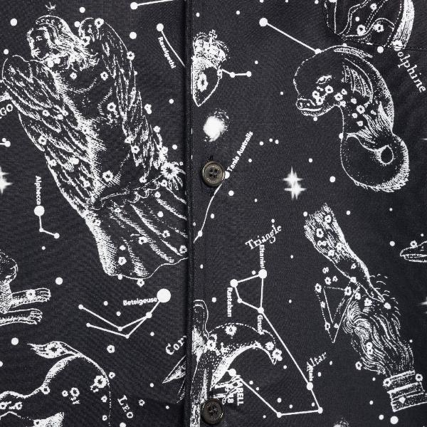 Camicia nera con stampa costellazioni                                                                                                                  VALENTINO