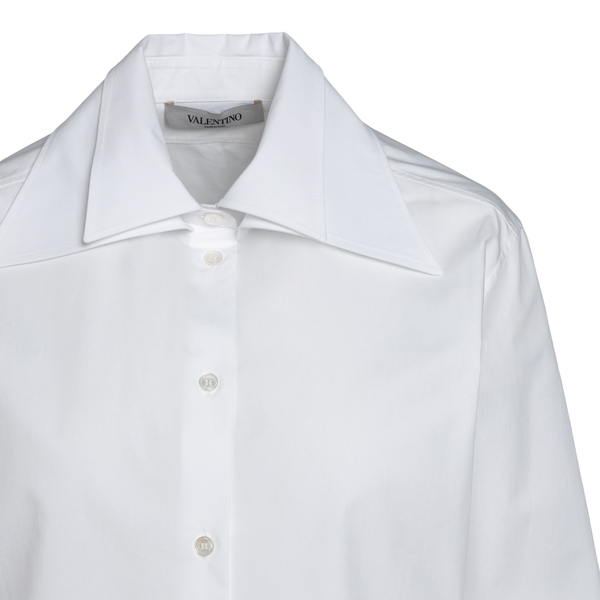 White shirt with double collar                                                                                                                         VALENTINO