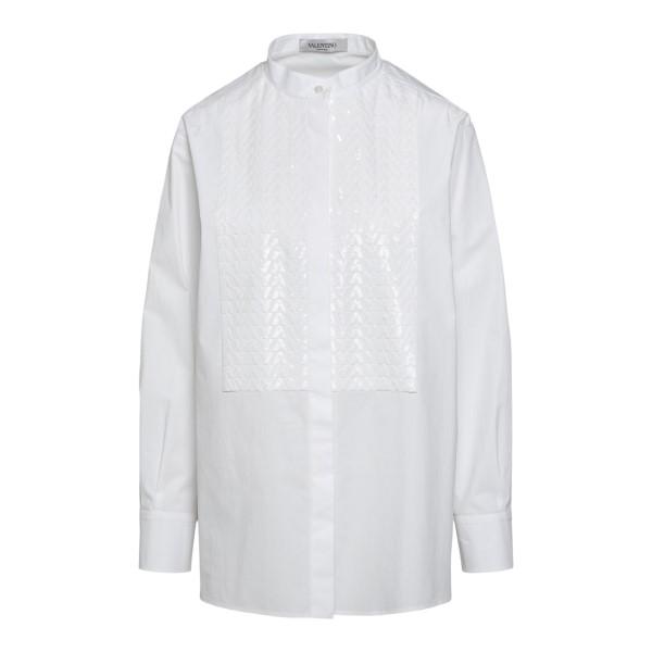 White shirt with shiny effect pattern                                                                                                                 Valentino WB3AB2J0 back