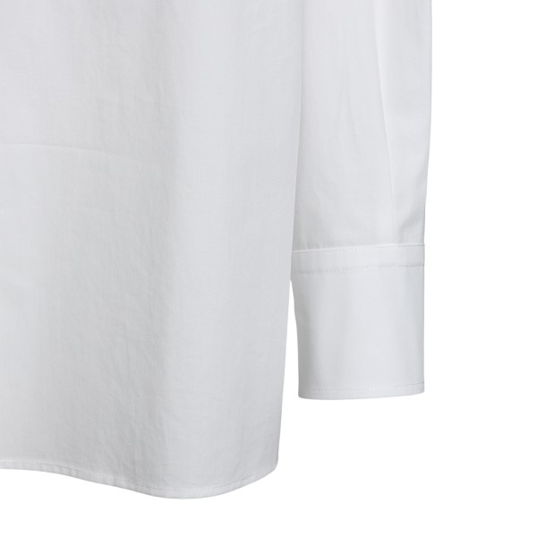 White shirt with shiny effect pattern                                                                                                                  VALENTINO