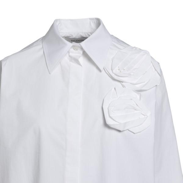 Camicia bianca con applicazioni a fiore                                                                                                                VALENTINO VALENTINO