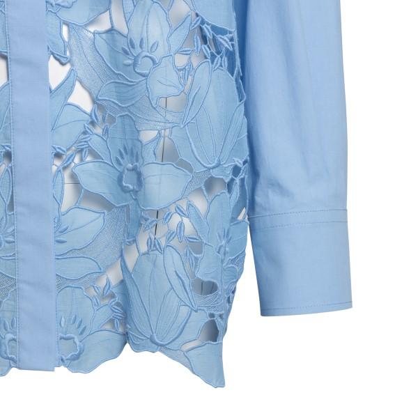 Camicia azzurra semitrasparente con ricami                                                                                                             VALENTINO VALENTINO