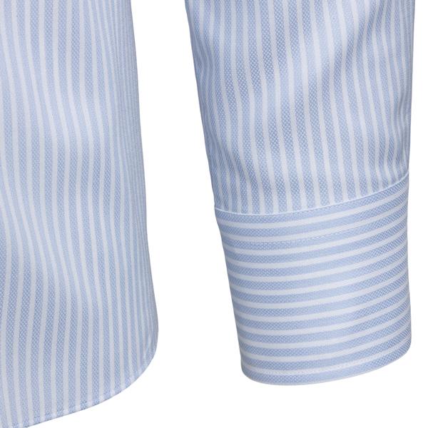 Light blue striped shirt                                                                                                                               XACUS