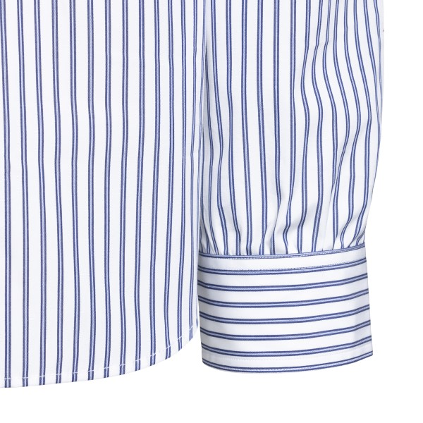 Striped shirt with patchwork details                                                                                                                   JUNYA WATANABE
