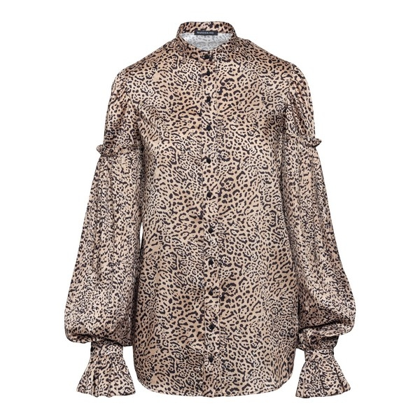 Beige shirt with animalier print                                                                                                                      Wandering WGW20230 front
