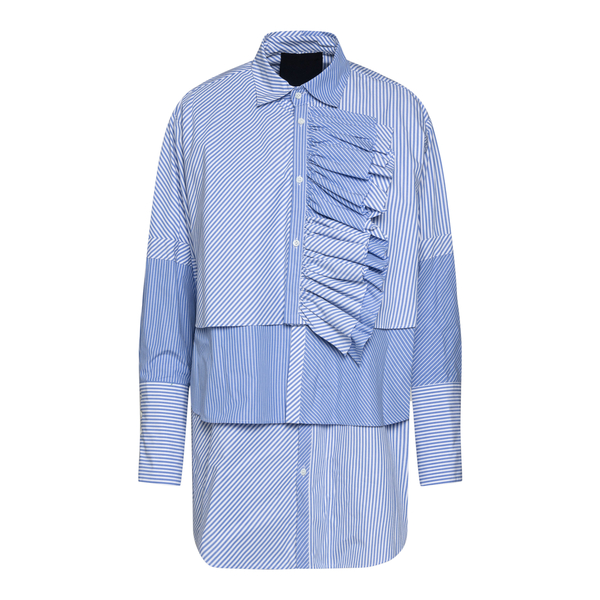 Light blue striped shirt with drapery                                                                                                                  RED VALENTINO