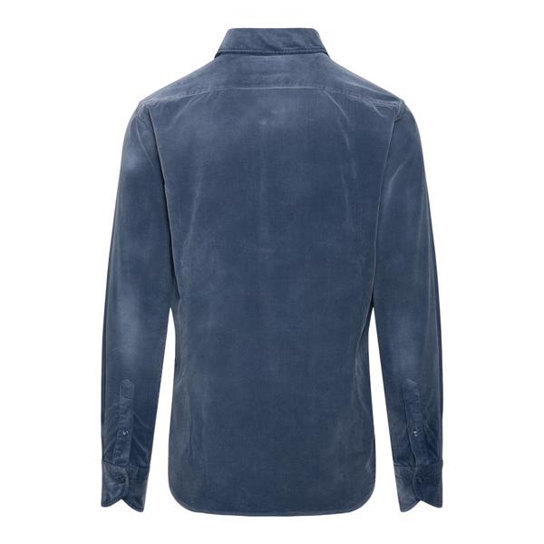 Blue velvet shirt                                                                                                                                      TINTORIA MATTEI