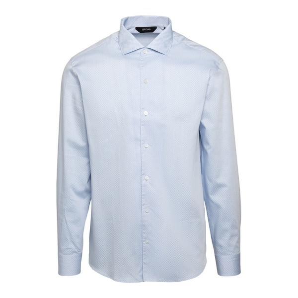 Light blue shirt with micro polka dot pattern                                                                                                         Zegna ZCRO1 front