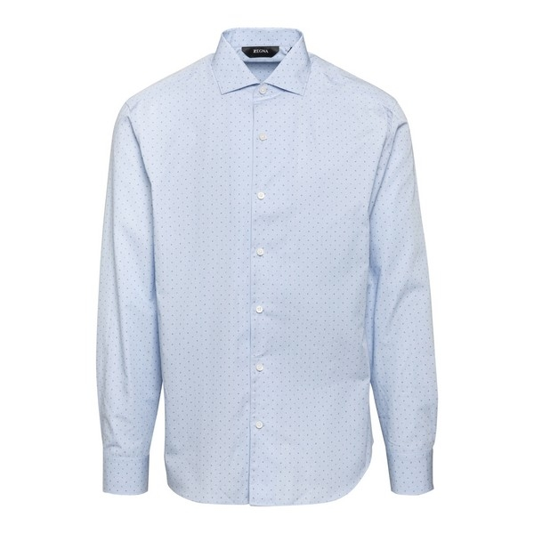 Light blue shirt with all-over print                                                                                                                  Zegna ZCRO1 front