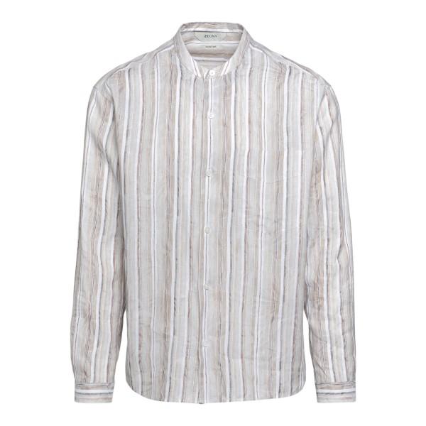 Beige striped shirt                                                                                                                                   Zegna ZCOG1 back