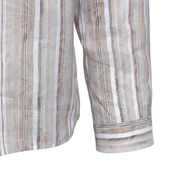 Beige striped shirt                                                                                                                                    ZEGNA