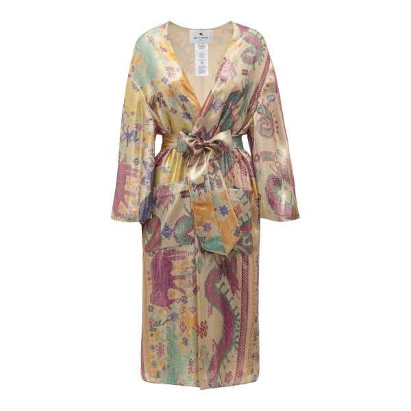 Multicolored patterned overcoat                                                                                                                       Etro 13953 front