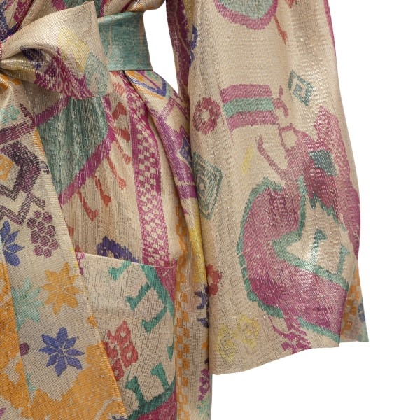 Multicolored patterned overcoat                                                                                                                        ETRO