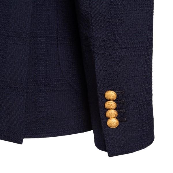 Blazer blu con texture a quadri                                                                                                                        TAGLIATORE TAGLIATORE