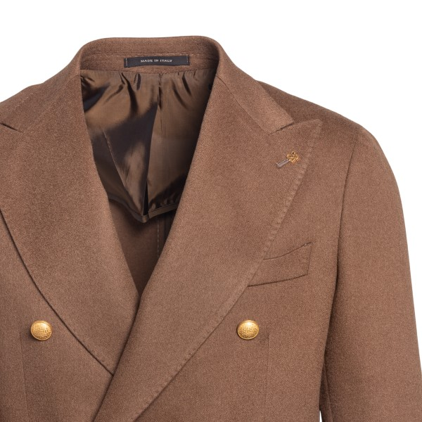 Brown double-breasted blazer                                                                                                                           TAGLIATORE
