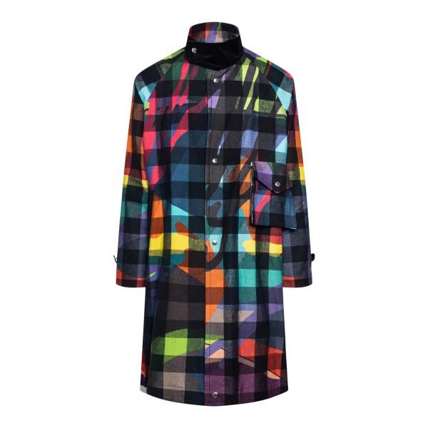 Cappotto multicolore a quadri                                                                                                                         Sacai 2102570M back