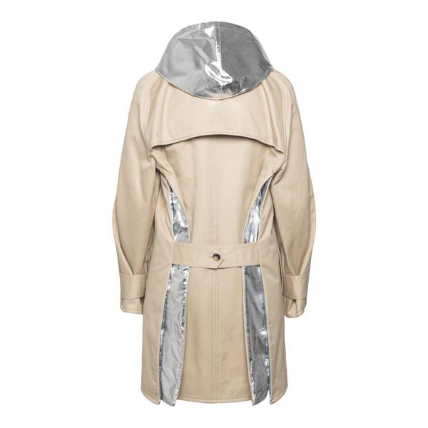 Cappotto beige con dettagli in argento                                                                                                                 PACO RABANNE                                       PACO RABANNE