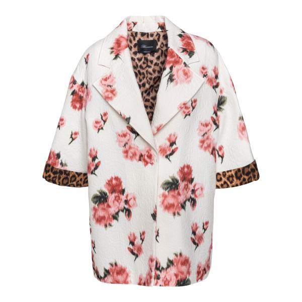 White jacket with floral and animal print                                                                                                             Blumarine 25557 back