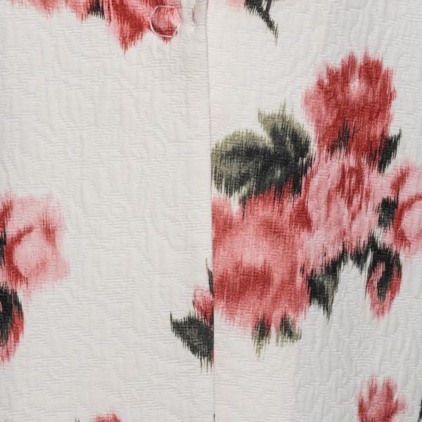 Giacca bianca con stampa floreale e animalier                                                                                                          BLUMARINE                                          BLUMARINE