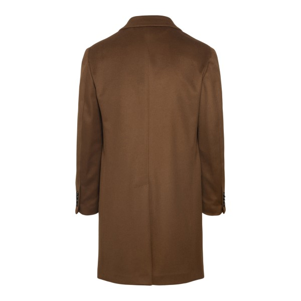 Double-breasted brown coat                                                                                                                             ZEGNA