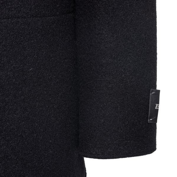 Cappotto nero in lunghezza media                                                                                                                       ZEGNA ZEGNA