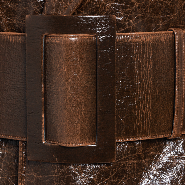 Cappotto marrone in effetto stropicciato                                                                                                               MSGM MSGM
