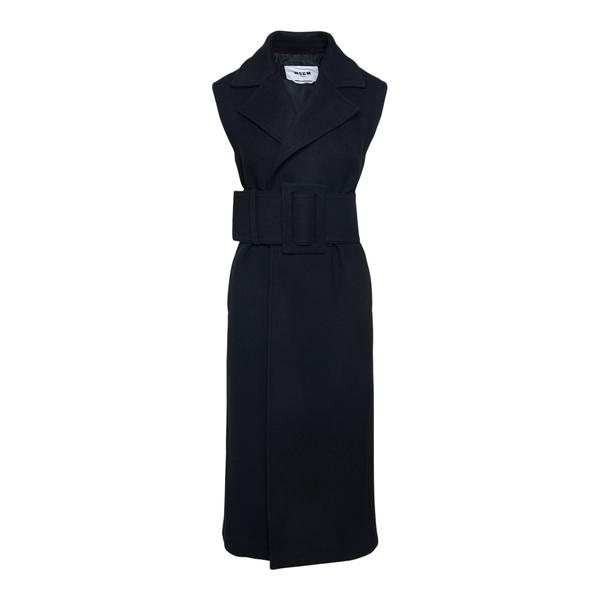 Cappotto nero senza maniche                                                                                                                           Msgm 3142MDC108 retro