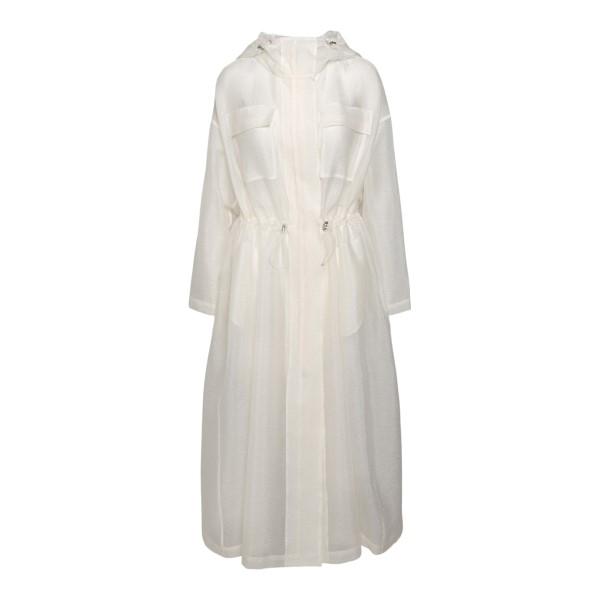 Long semi-transparent white jacket                                                                                                                    Emporio Armani 3K2L68 back